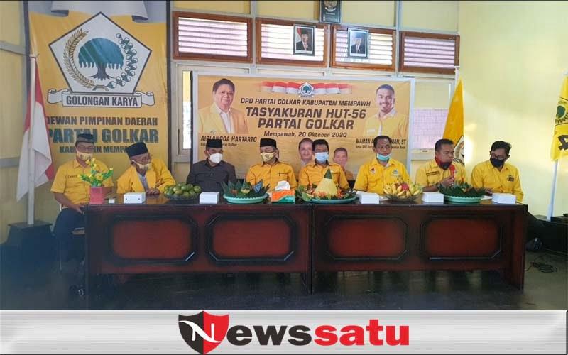 HUT Ke 56, DPD Partai Golkar Mempawah Ingatkan Warga 3M