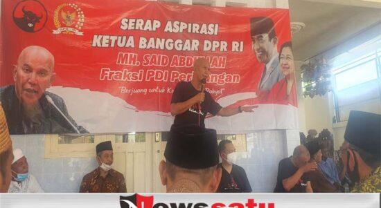 Ketua Banggar DPR RI MH Said Abdullah saat serap aspirasi bersama warga