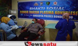 Personel Polres Bondowoso Donor Plasma Konvalesen