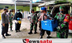TNI-Polri di Pamekasan Kawal Ketat Pendistribusian Vaksin Covid-19 Hingga Kecamatan
