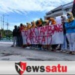 Demo Tolak Tambamg Fosfat, Mahasiswa Desak Kepala Bappeda Dicopot