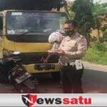Truk Vs Sepeda Motor Adu Moncong , 2 Gadis Luka Parah di Pamekasan