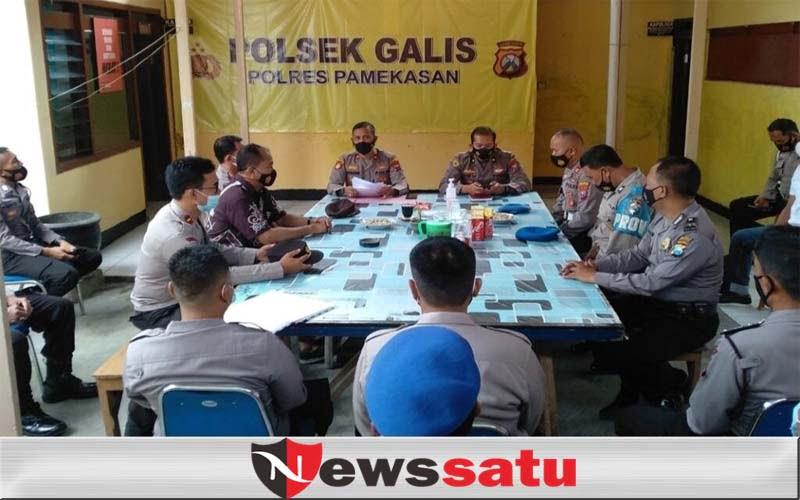 Wakapolres Pamekasan Awasi Disiplin dan Kinerja Polsek Jelang Pilkades Serentak 2021