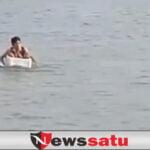Fakta Sebenarnya di Balik Viralnya Video Bocah SD Kayuh Styrofoam Seberangi Sungai