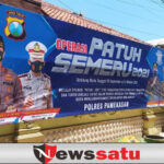 Masifkan Sosialisasi Ops Patuh Semeru 2021, Satlantas Pamekasan Pasang Banner, Spanduk dan Baliho