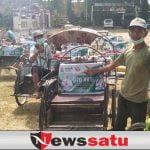 Becak Tradisional Bercorak MTQ Jatim, Siap Layani Pelesiran Kota Pamekasan