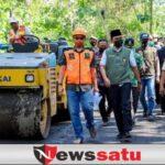 Bupati Baddrut Tamam Tinjau Langsung Pengaspalan 11 Km, Jalur Pegantenan-Batumarmar Pamekasan