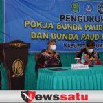 Bupati Fauzi Hadiri Pengukuhan dan Penguatan Pokja Bunda PAUD 2021