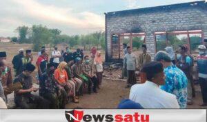 Rumah Warga Jarin Ludes Dilahap Si Jago Merah, Bupati Pamekasan Beri Bantuan Darurat
