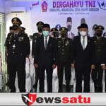 Wabup Shodiq Hadiri Upacara Peringatan HUT TNI Ke-76